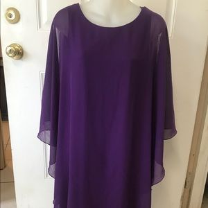 Size 8 Tiana B purple short sl asymmetrical Dress